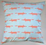 Cushion Cover in Scion Mini Mr Fox Aqua 16""